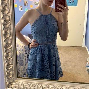 Formal francesca's light blue lace dress